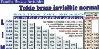 TOLDO BRAZO INVISIBLE NORMAL